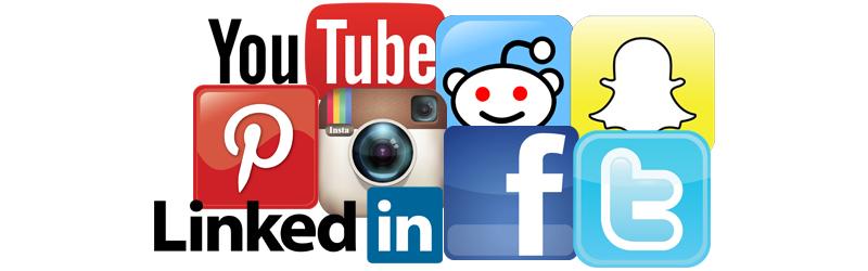 De 8 største sociale medier i Danmark og på verdensplan